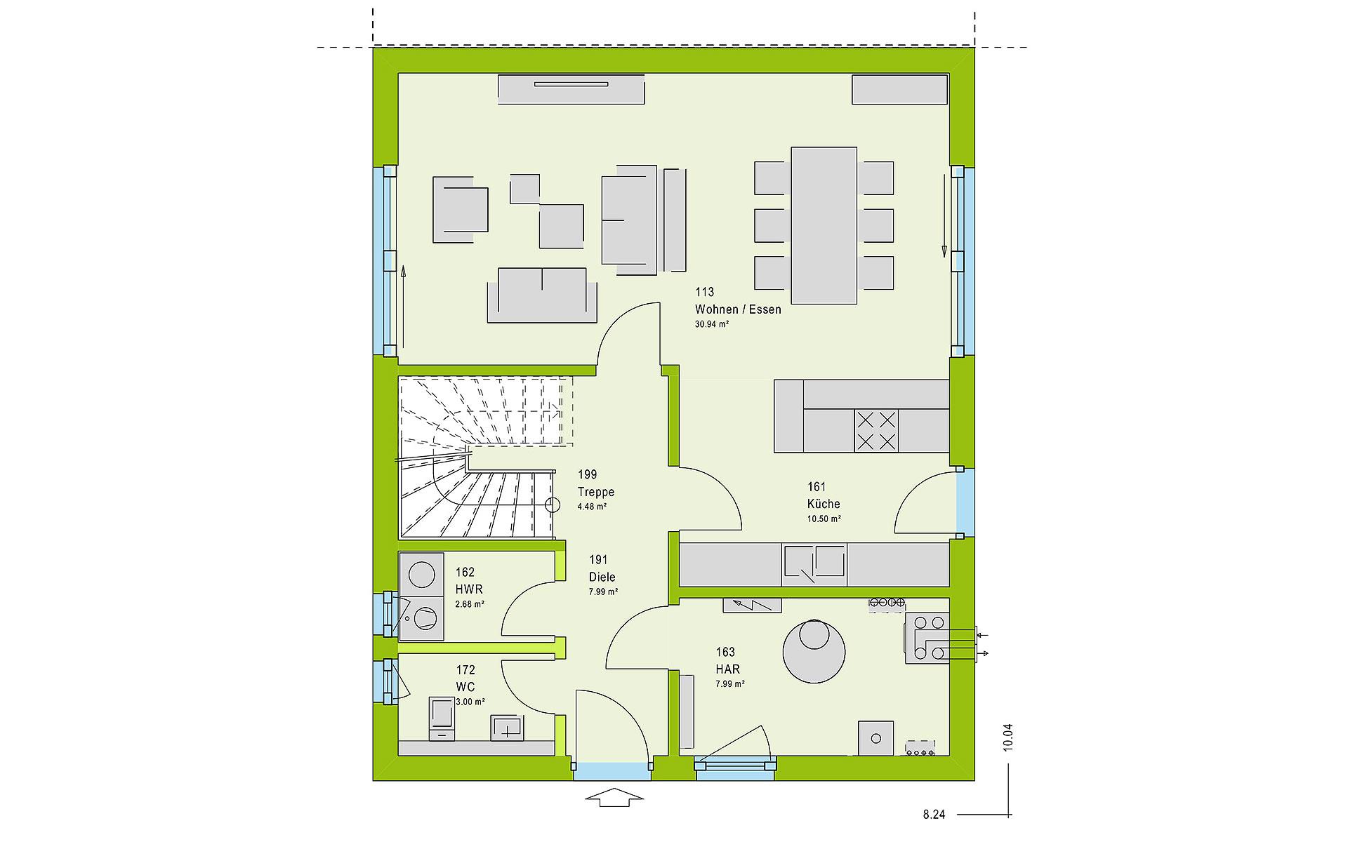 Erdgeschoss TwinStyle 13.01 W von massa haus GmbH