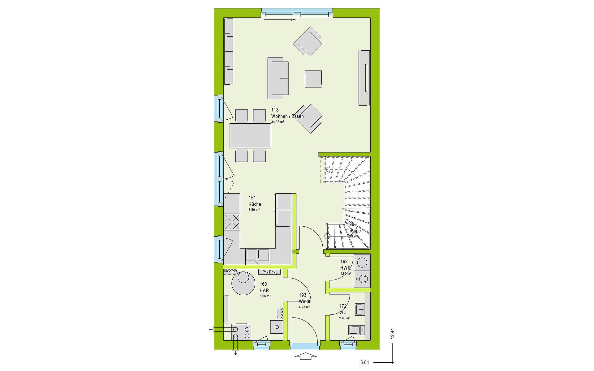 Erdgeschoss TwinStyle 13.03 S von massa haus GmbH
