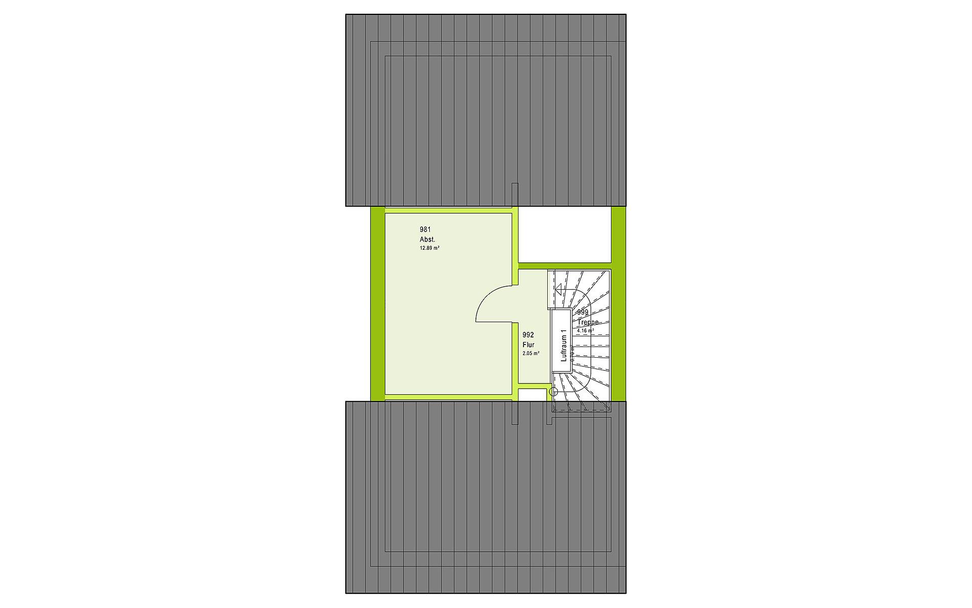 Dachgeschoss TwinStyle 13.03 S von massa haus GmbH