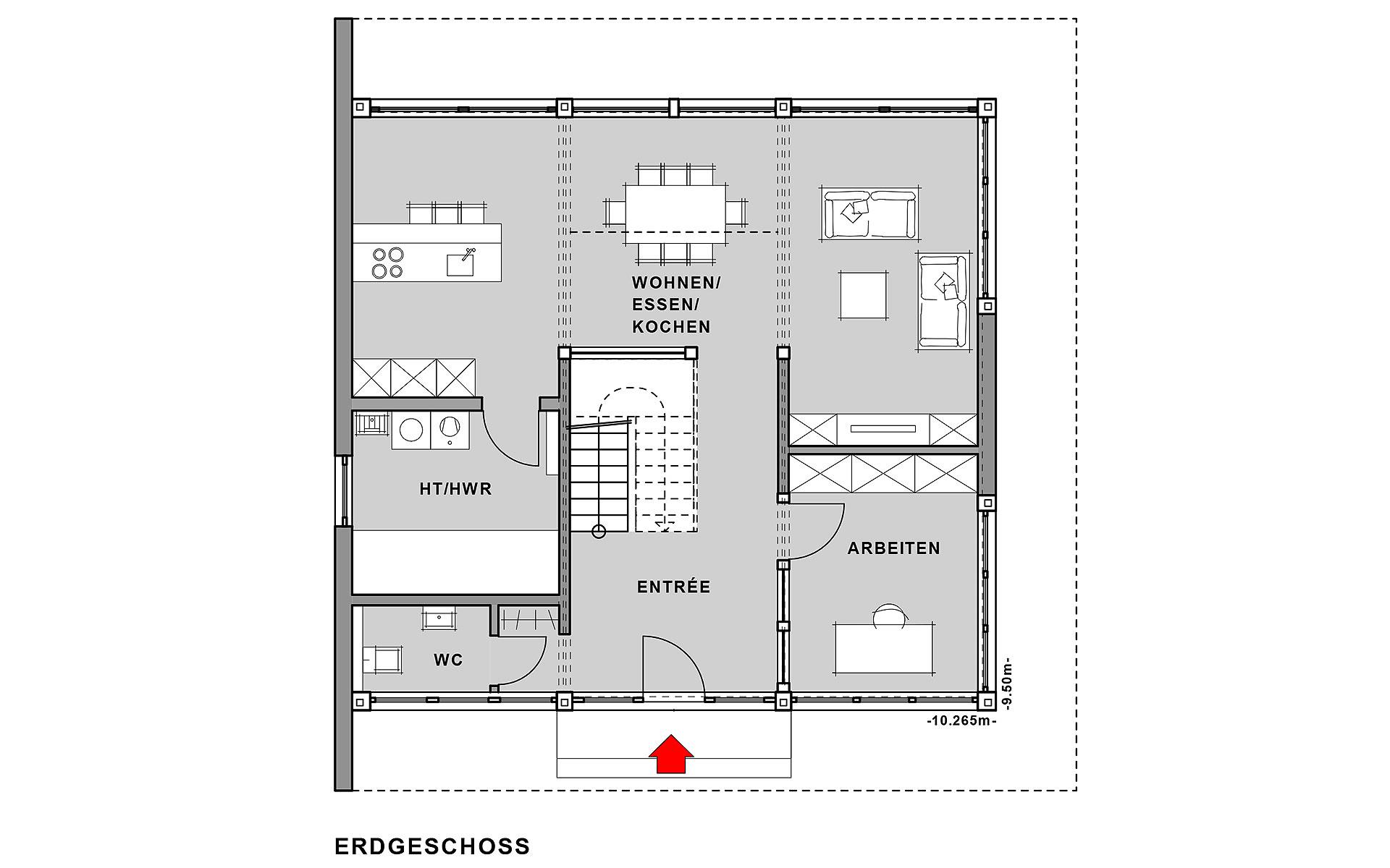 Erdgeschoss FUSION Musterhaus Mannheim von Meisterstück-HAUS