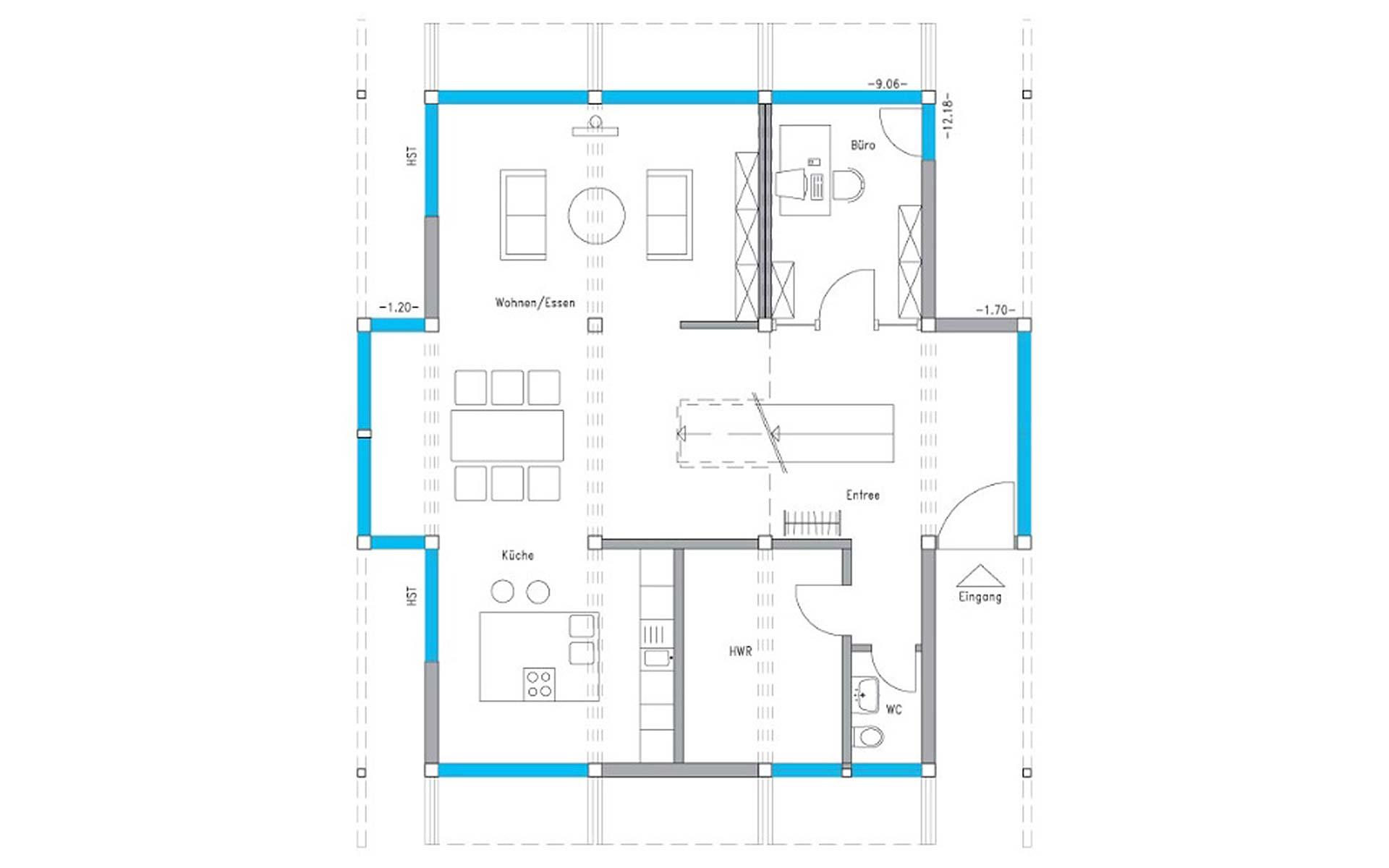 Erdgeschoss Ästhetik Musterhaus Langenhagen von Meisterstück-HAUS