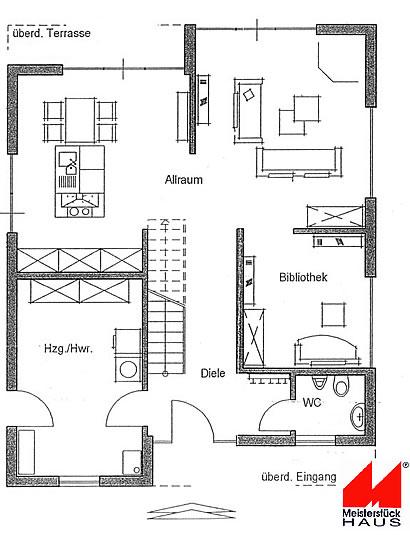 Erdgeschoss Bauhaus-Stil von Meisterstück-HAUS