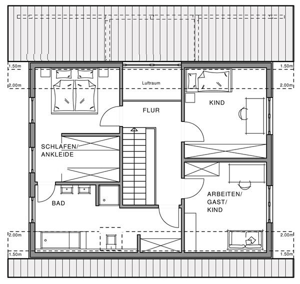 Dachgeschoss Linear von Meisterstück-HAUS