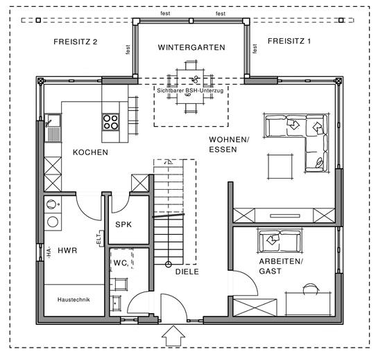 Erdgeschoss Linear von Meisterstück-HAUS