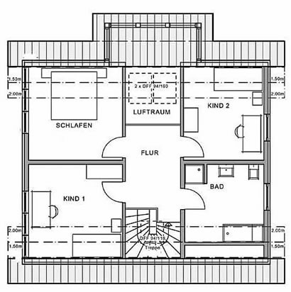 Dachgeschoss Haus Fellbach von Meisterstück-HAUS