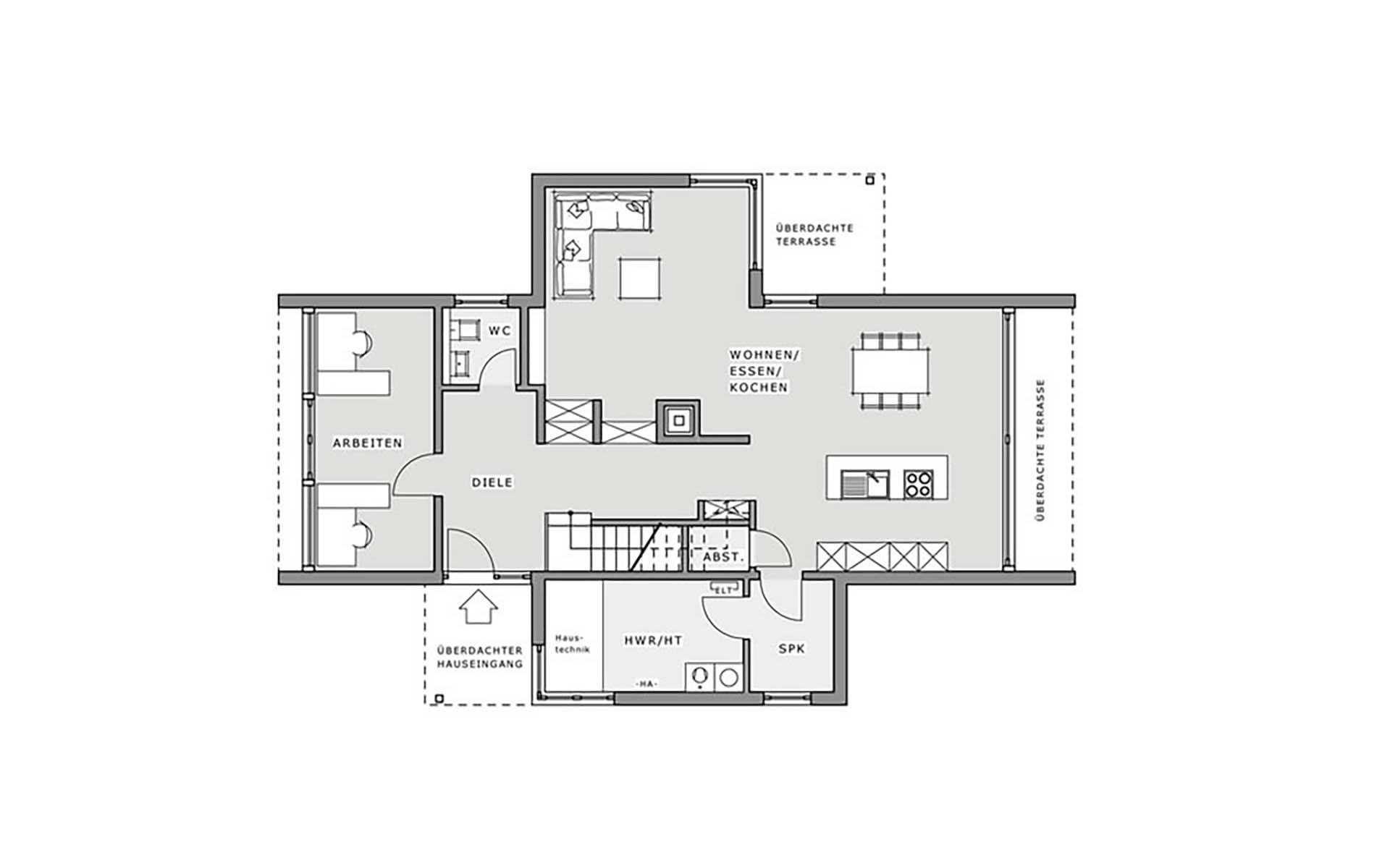 Erdgeschoss Box - Musterhaus Hameln von Meisterstück-HAUS