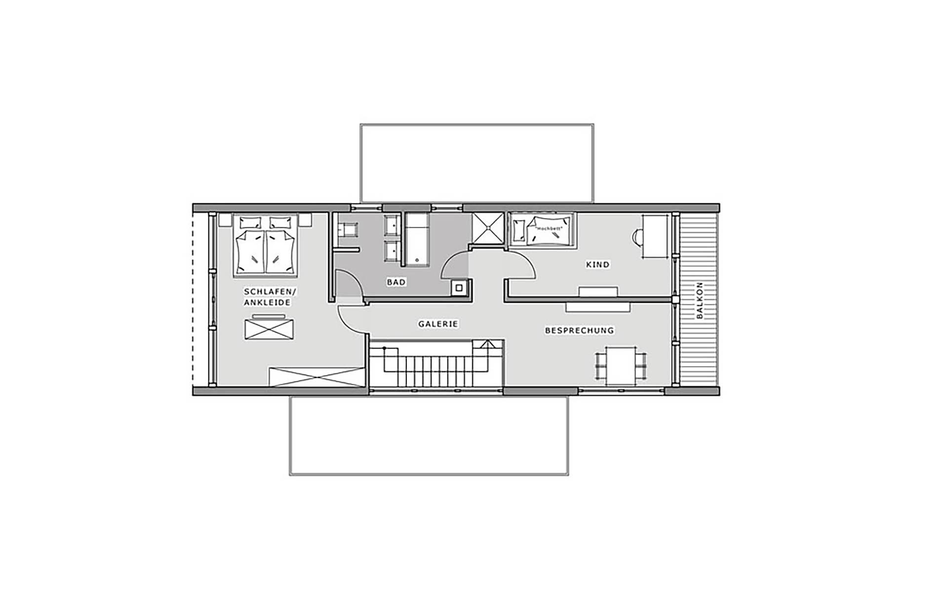 Obergeschoss Box - Musterhaus Hameln von Meisterstück-HAUS