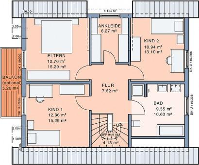 Dachgeschoss Freiraum Large von Meisterstück-HAUS