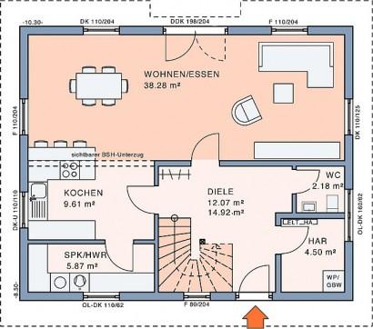 Erdgeschoss Freiraum Large von Meisterstück-HAUS