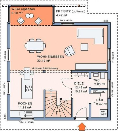 Erdgeschoss Freiraum WiGa von Meisterstück-HAUS