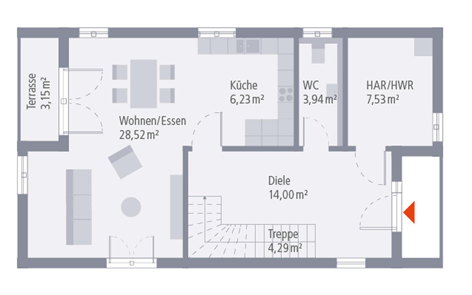 Erdgeschoss Design 02 von OKAL Haus GmbH