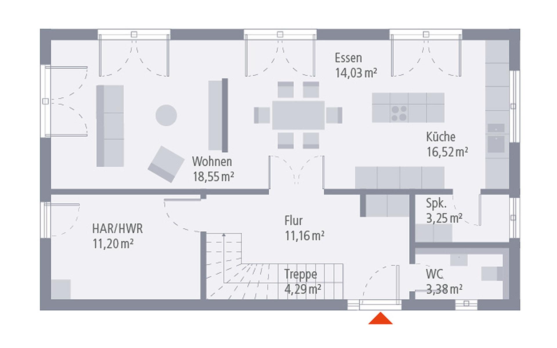 Erdgeschoss Design 05 von OKAL Haus GmbH