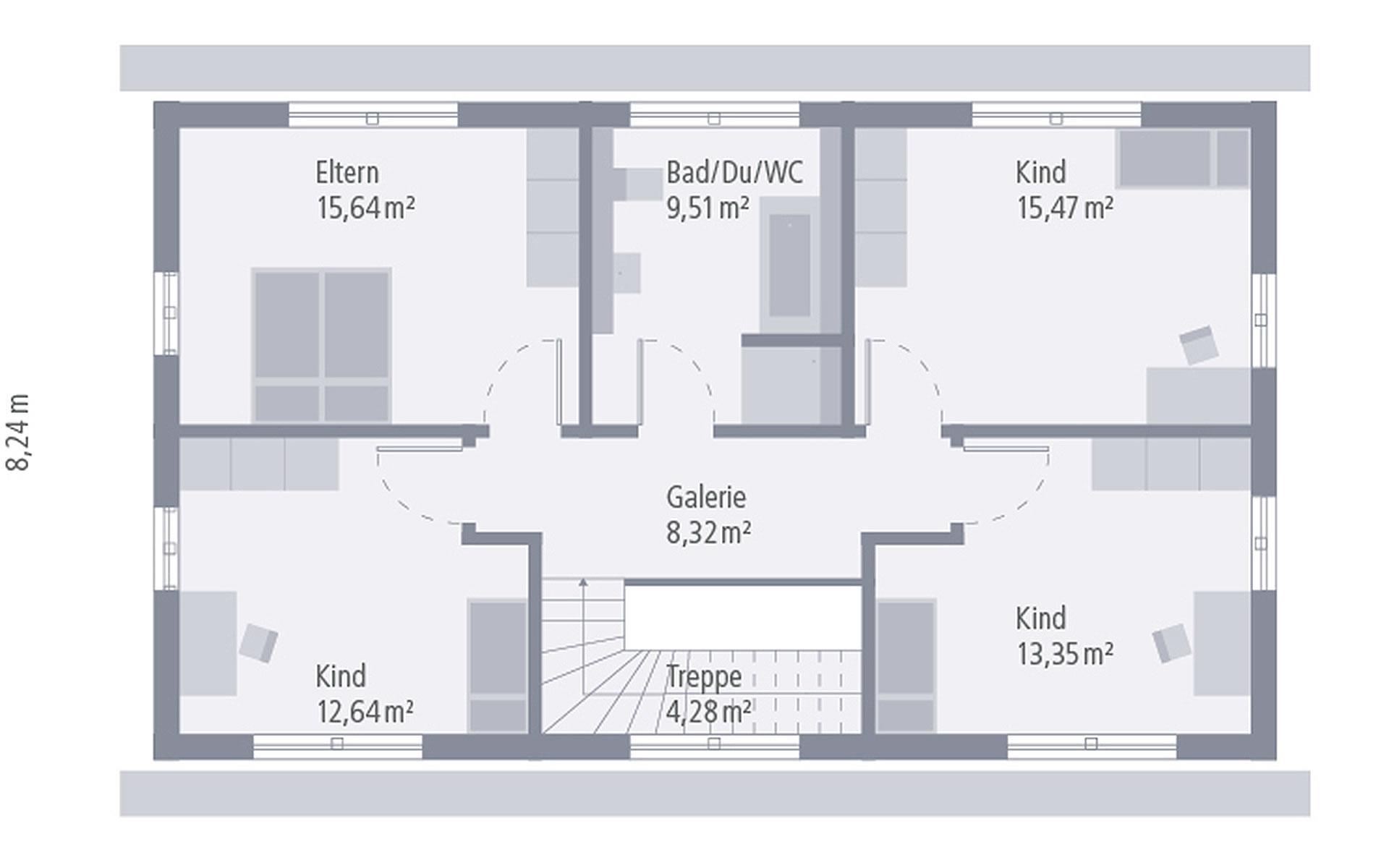 Dachgeschoss Design 05 von OKAL Haus GmbH