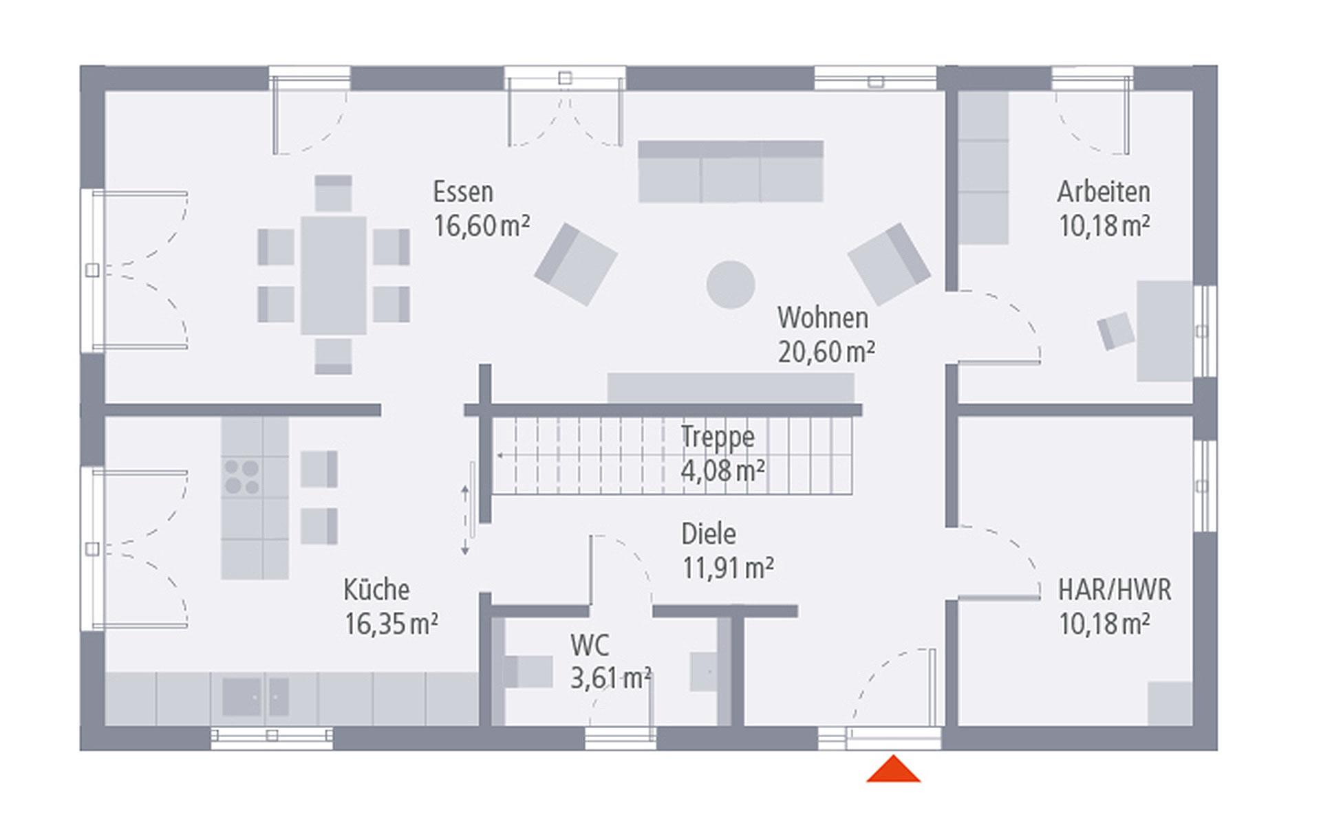Erdgeschoss Design 07 von OKAL Haus GmbH