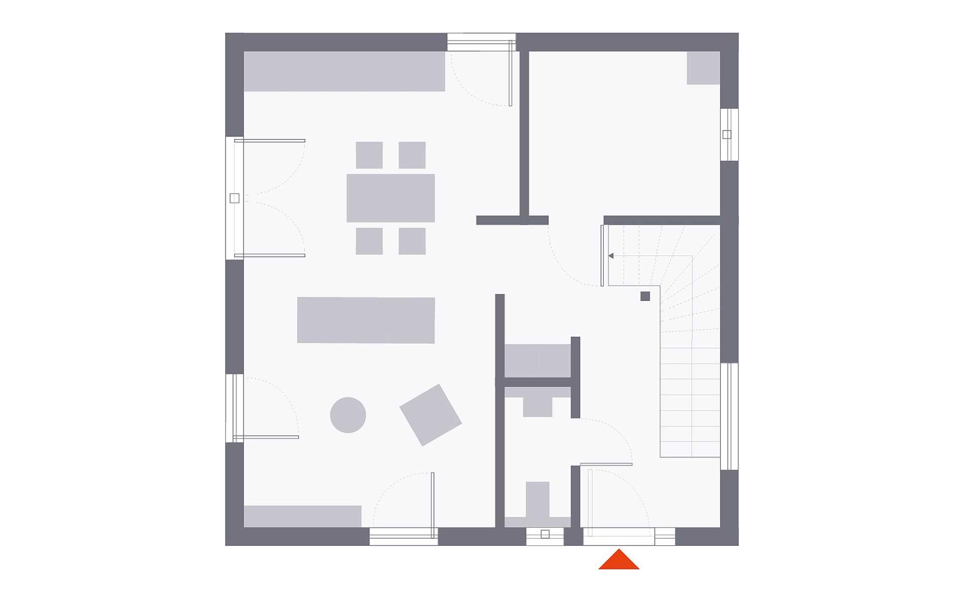 Erdgeschoss Design 08 von OKAL Haus GmbH