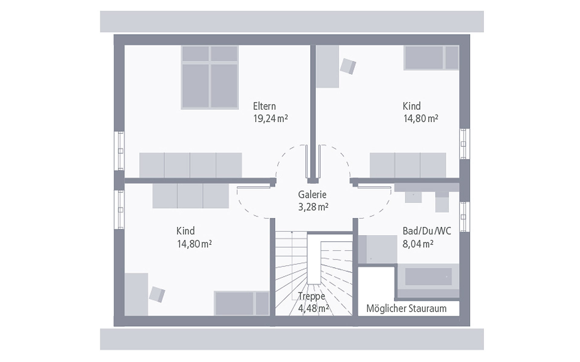 Dachgeschoss Design 09 von OKAL Haus GmbH