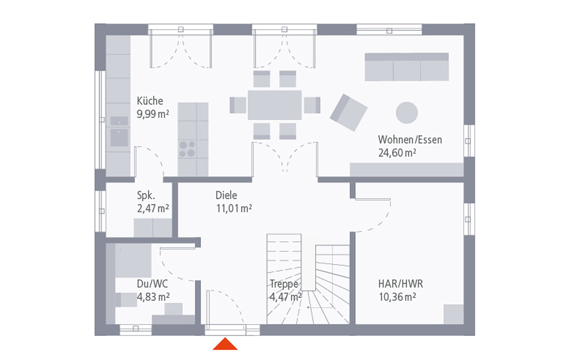 Erdgeschoss Design 09 von OKAL Haus GmbH