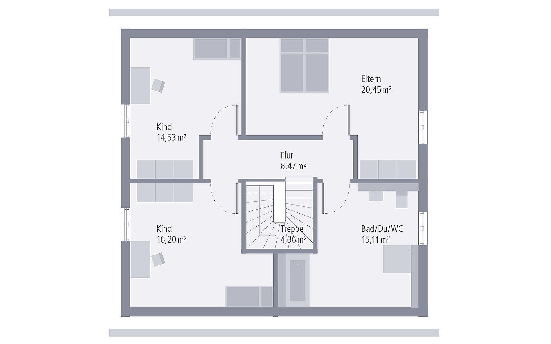 Dachgeschoss Design 15 von OKAL Haus GmbH