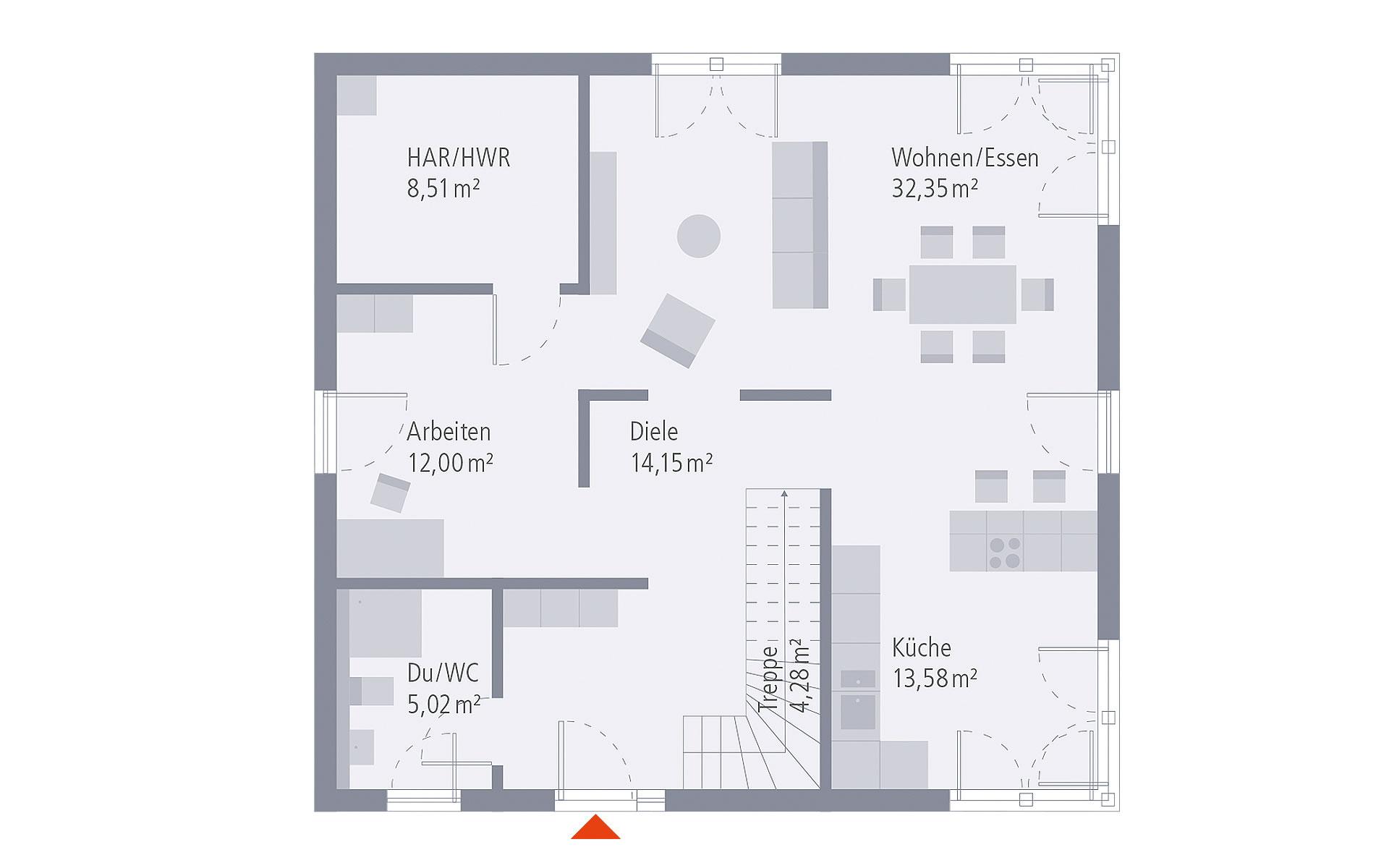 Erdgeschoss Design 17 von OKAL Haus GmbH