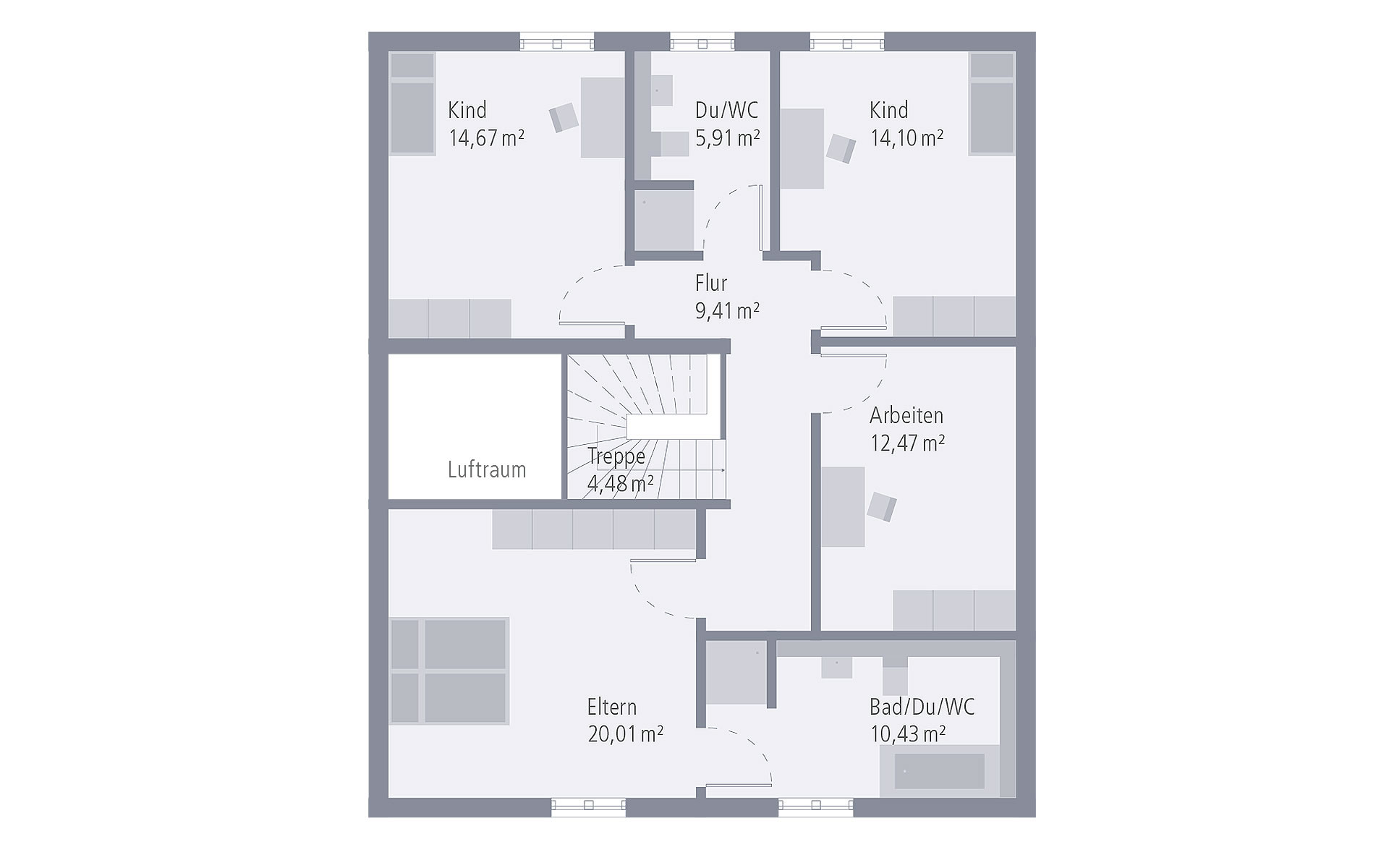 Dachgeschoss Design 18.2 von OKAL Haus GmbH