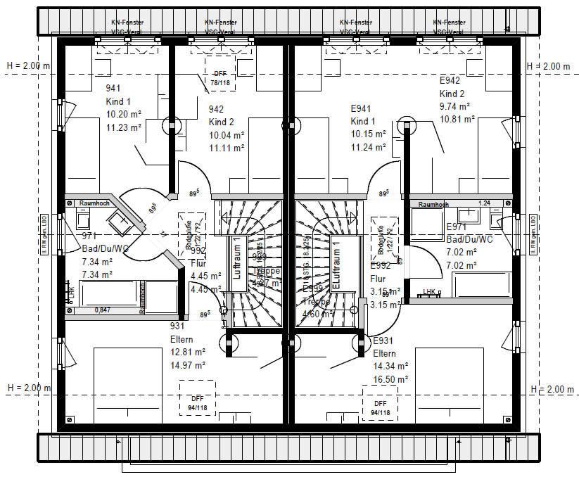 Dachgeschoss FG 106-124 B V2 90 von OKAL Haus GmbH