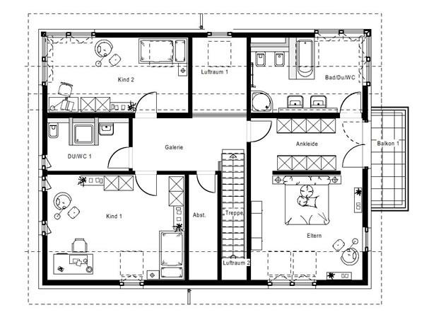 Dachgeschoss FN 104-134 B V4 von OKAL Haus GmbH