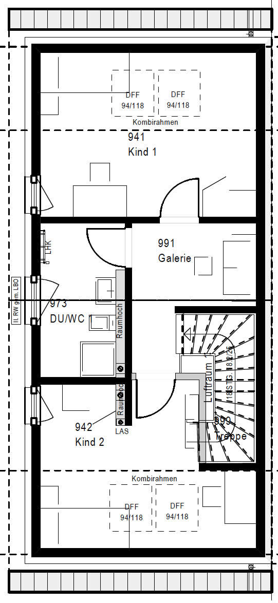 Dachgeschoss FT 118-055 B 90 von OKAL Haus GmbH