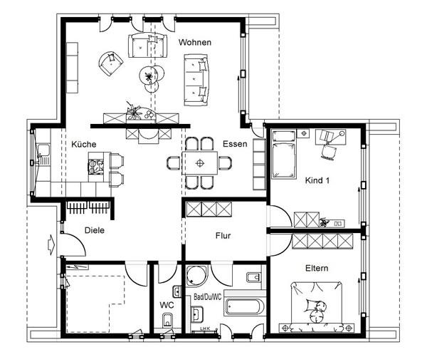 Erdgeschoss FN 128-146 A von OKAL Haus GmbH