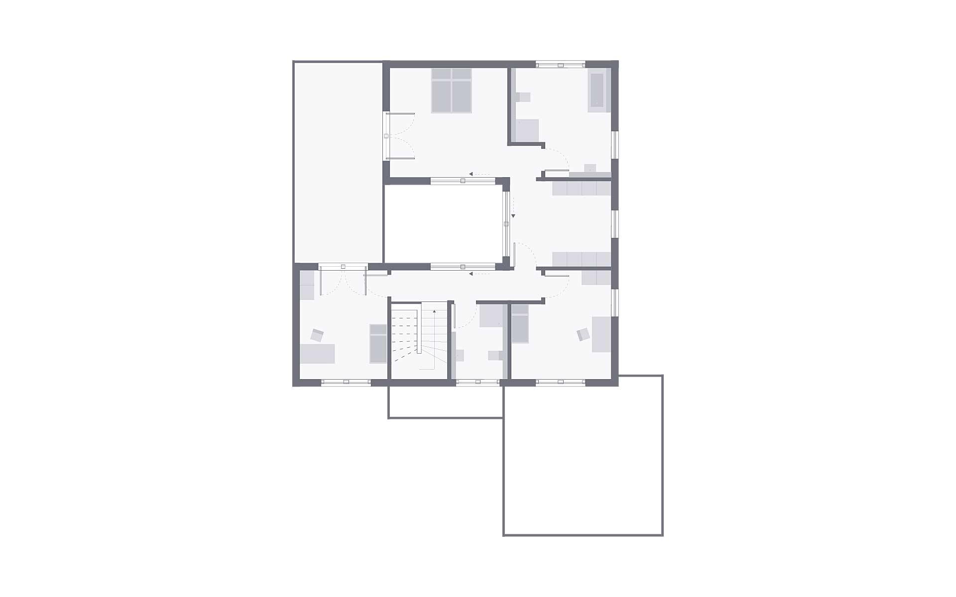 Dachgeschoss Musterhaus Bad Vilbel von OKAL Haus GmbH