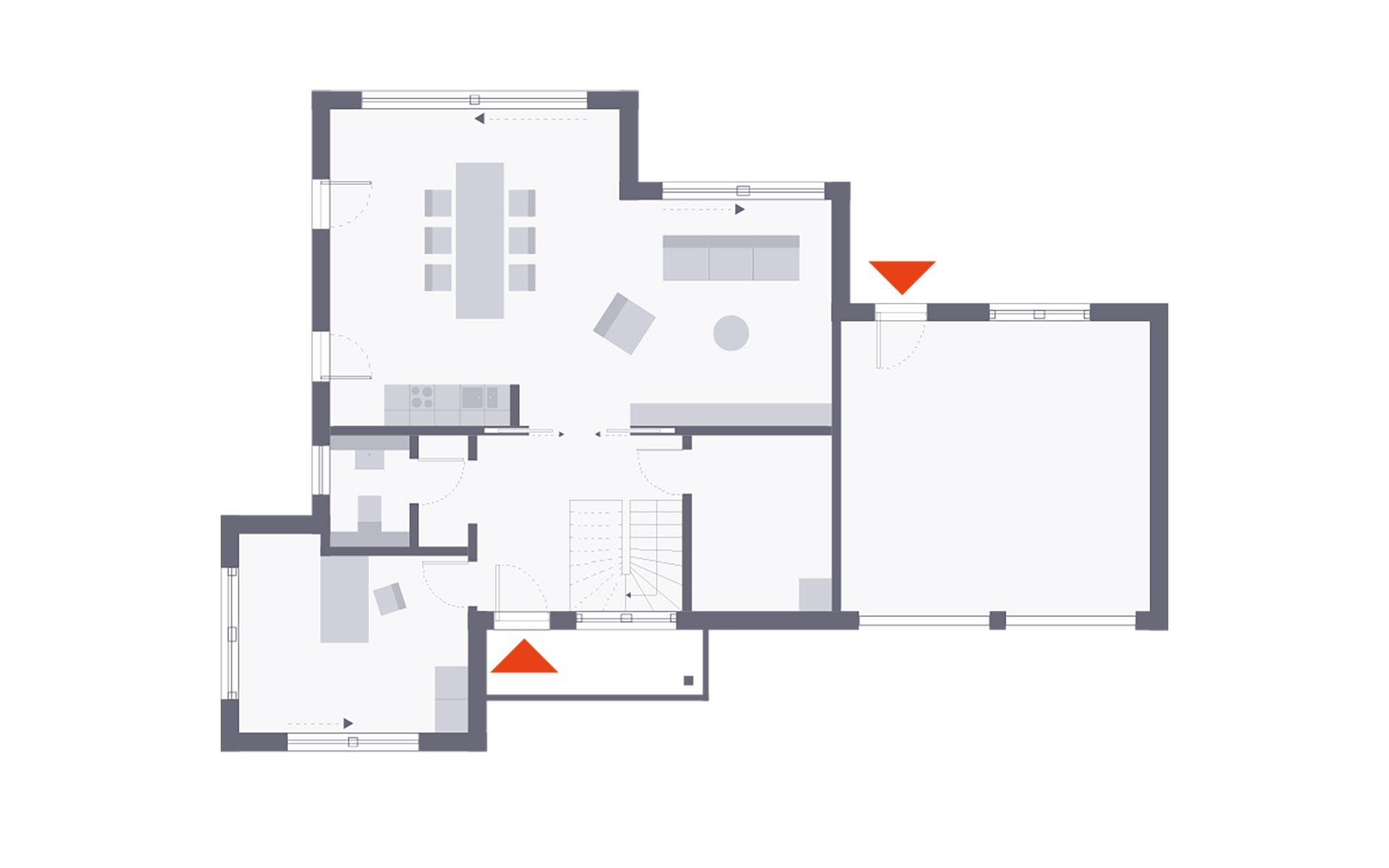 Erdgeschoss Musterhaus Schkeuditz von OKAL Haus GmbH
