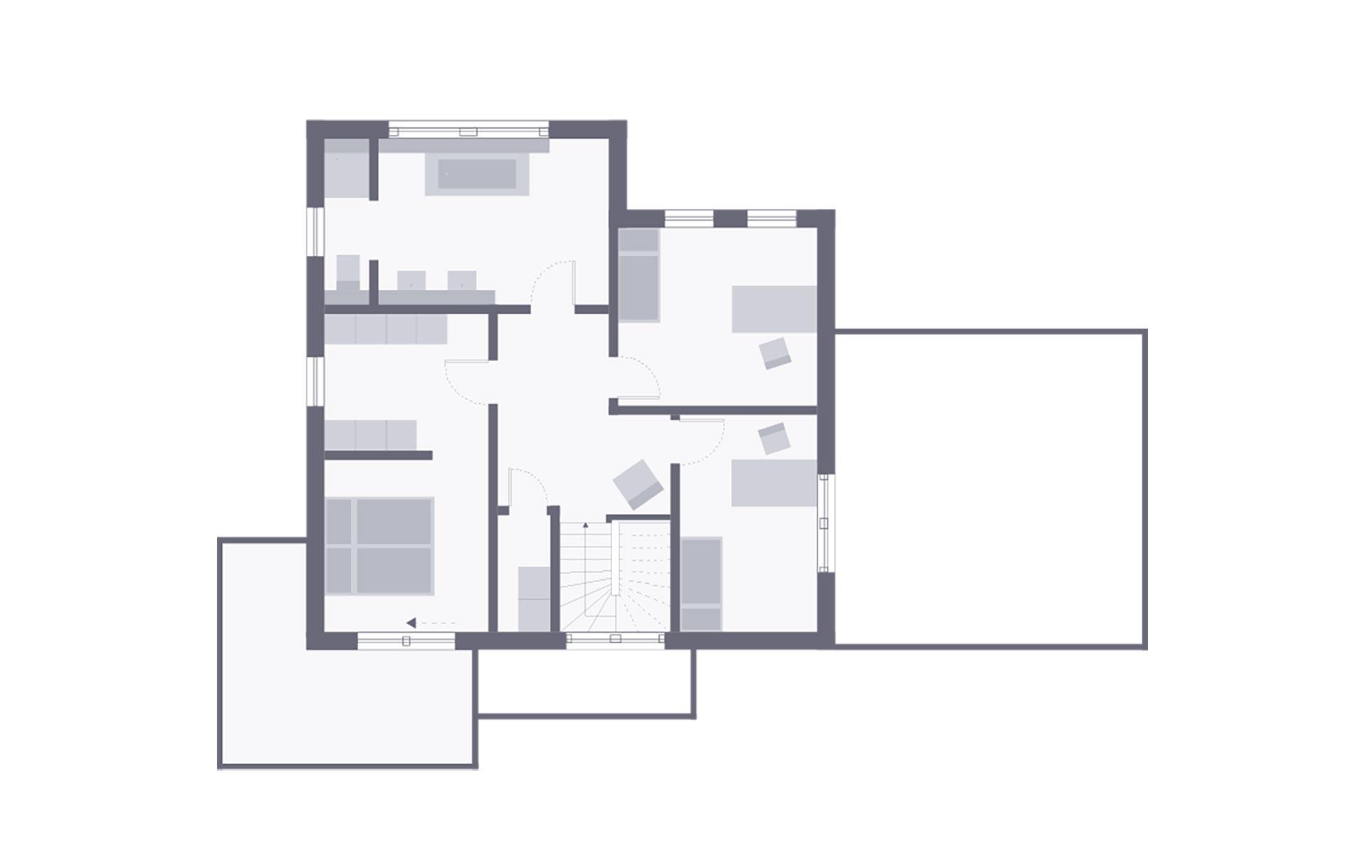 Obergeschoss Musterhaus Schkeuditz von OKAL Haus GmbH