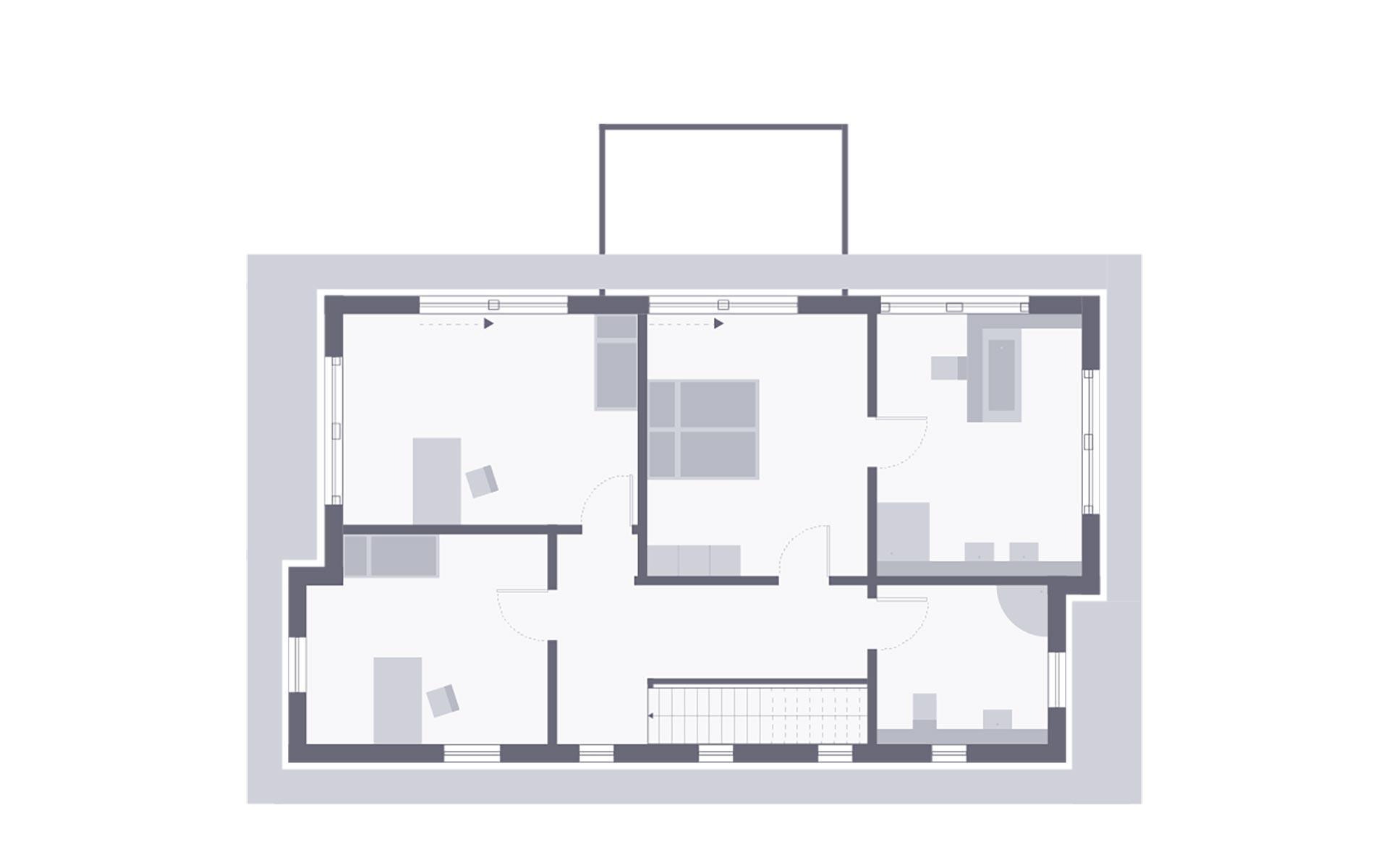 Obergeschoss Musterhaus Villingen-Schwenningen von OKAL Haus GmbH