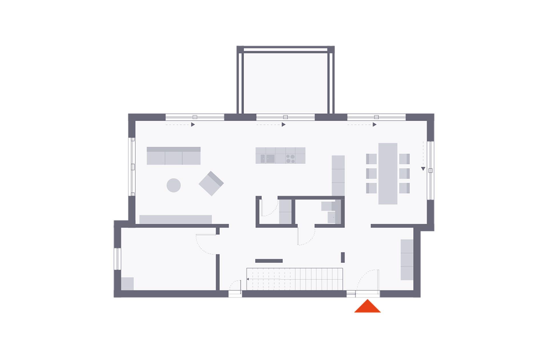Erdgeschoss Musterhaus Villingen-Schwenningen von OKAL Haus GmbH