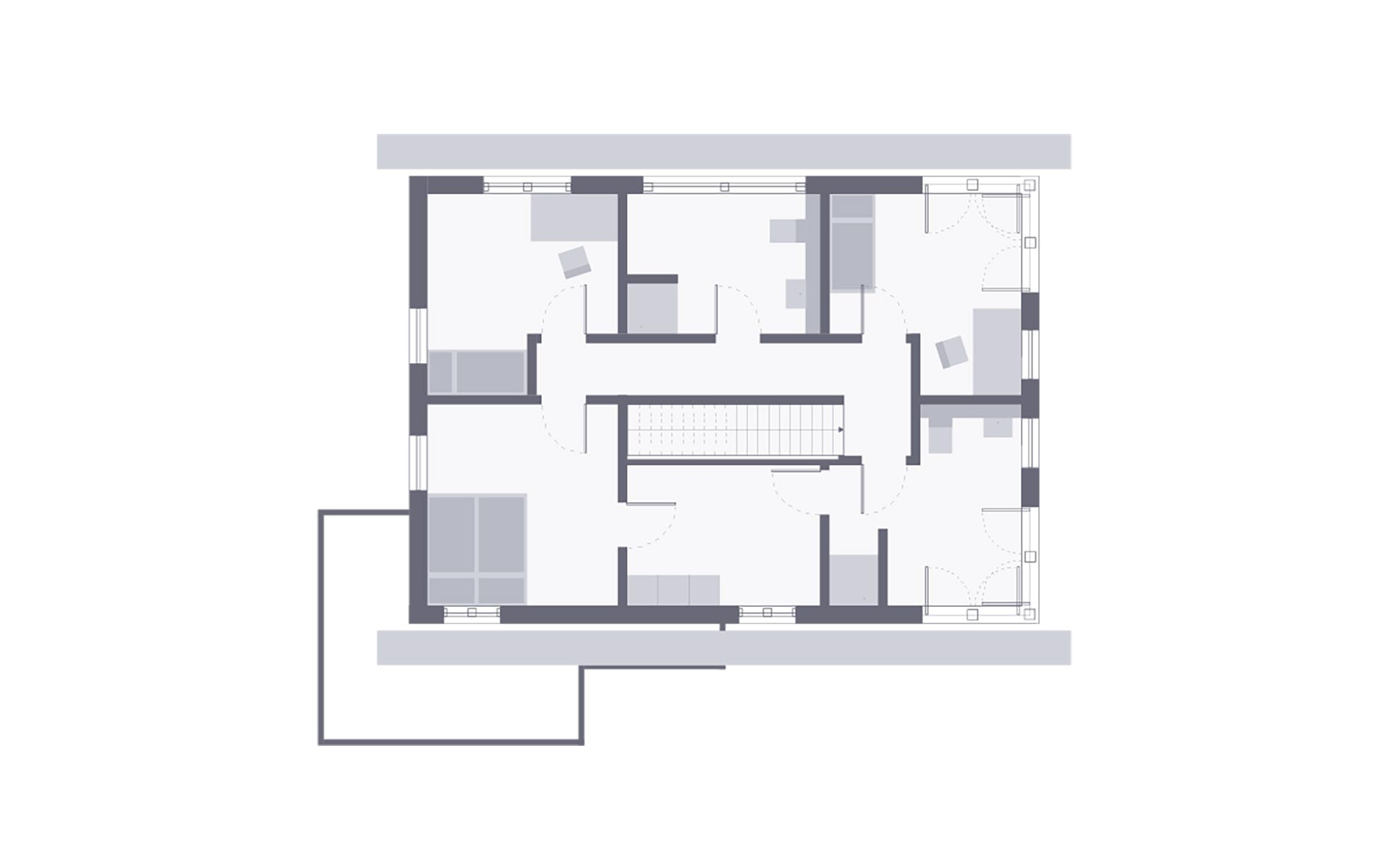 Dachgeschoss Musterhaus Werder von OKAL Haus GmbH