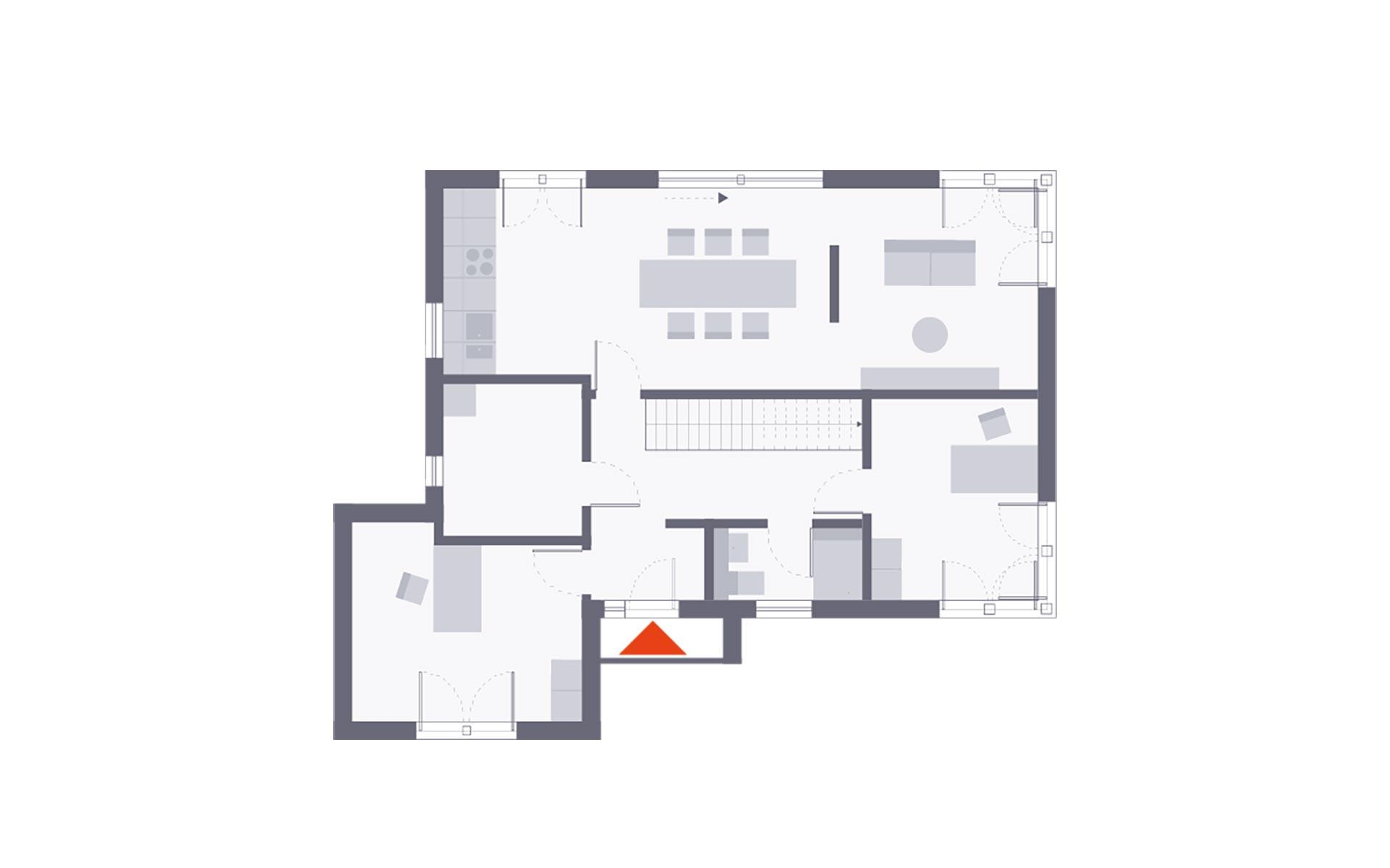 Erdgeschoss Musterhaus Werder von OKAL Haus GmbH