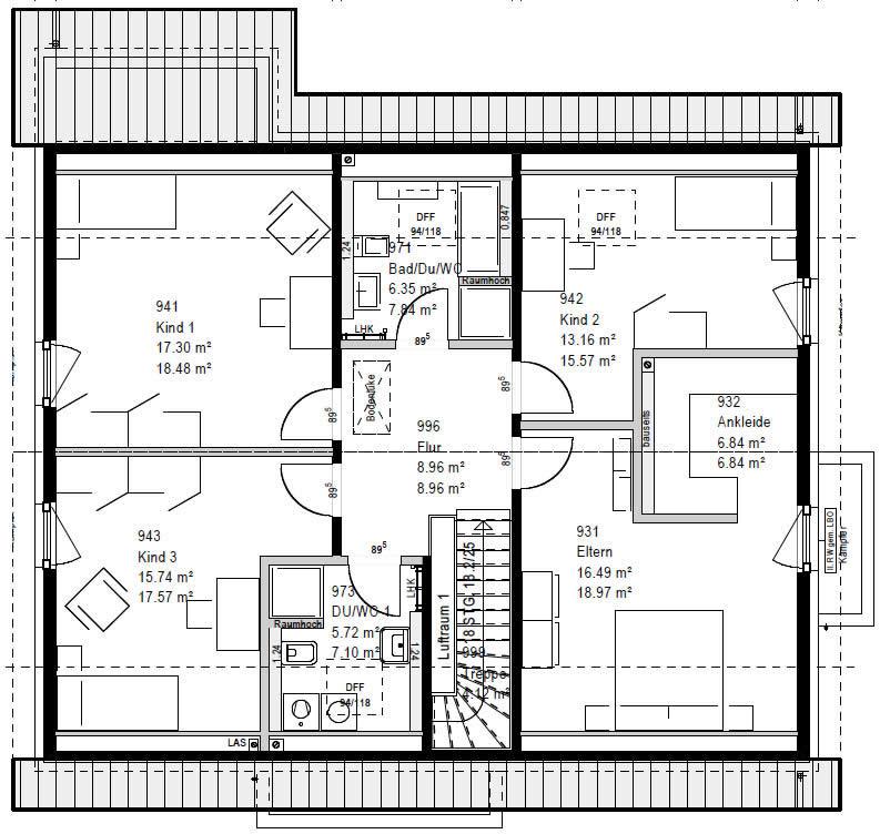 Dachgeschoss RP 221 V1 90 von OKAL Haus GmbH