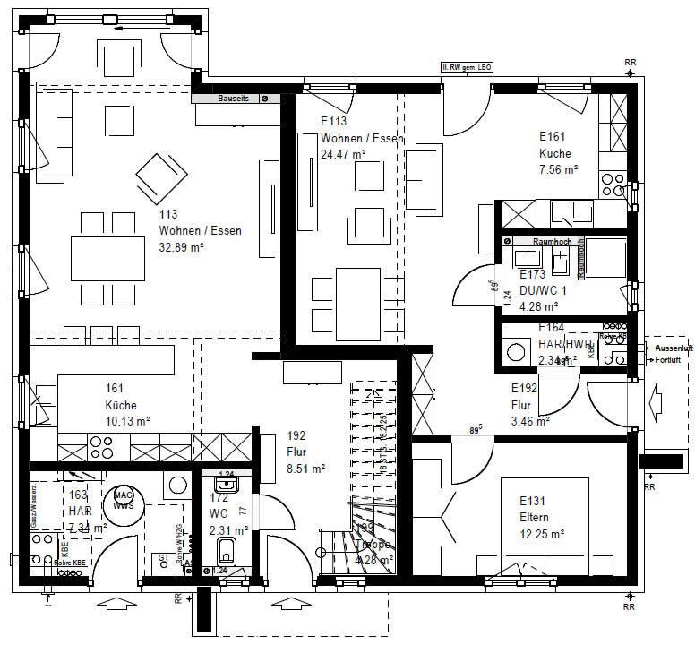 Erdgeschoss RP 221 V1 90 von OKAL Haus GmbH