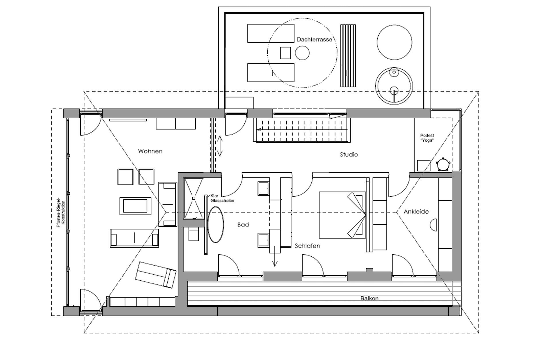 Obergeschoss Ambienti+ von Regnauer Hausbau GmbH & Co. KG