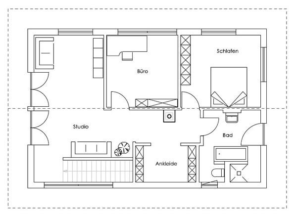 Obergeschoss Bad Endorf von Regnauer Hausbau GmbH & Co. KG