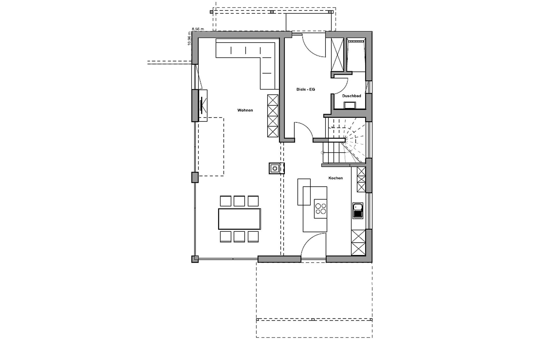 Erdgeschoss Bruckberg von Regnauer Hausbau GmbH & Co. KG