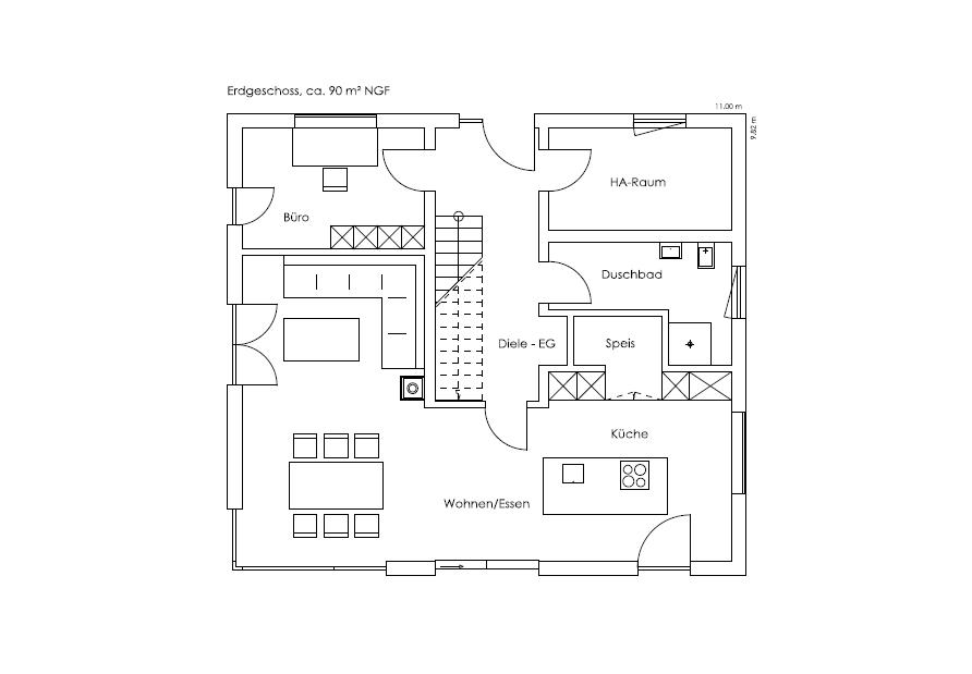Erdgeschoss Bruckmühl von Regnauer Hausbau GmbH & Co. KG