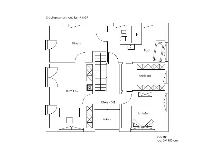 Obergeschoss Bruckmühl von Regnauer Hausbau GmbH & Co. KG