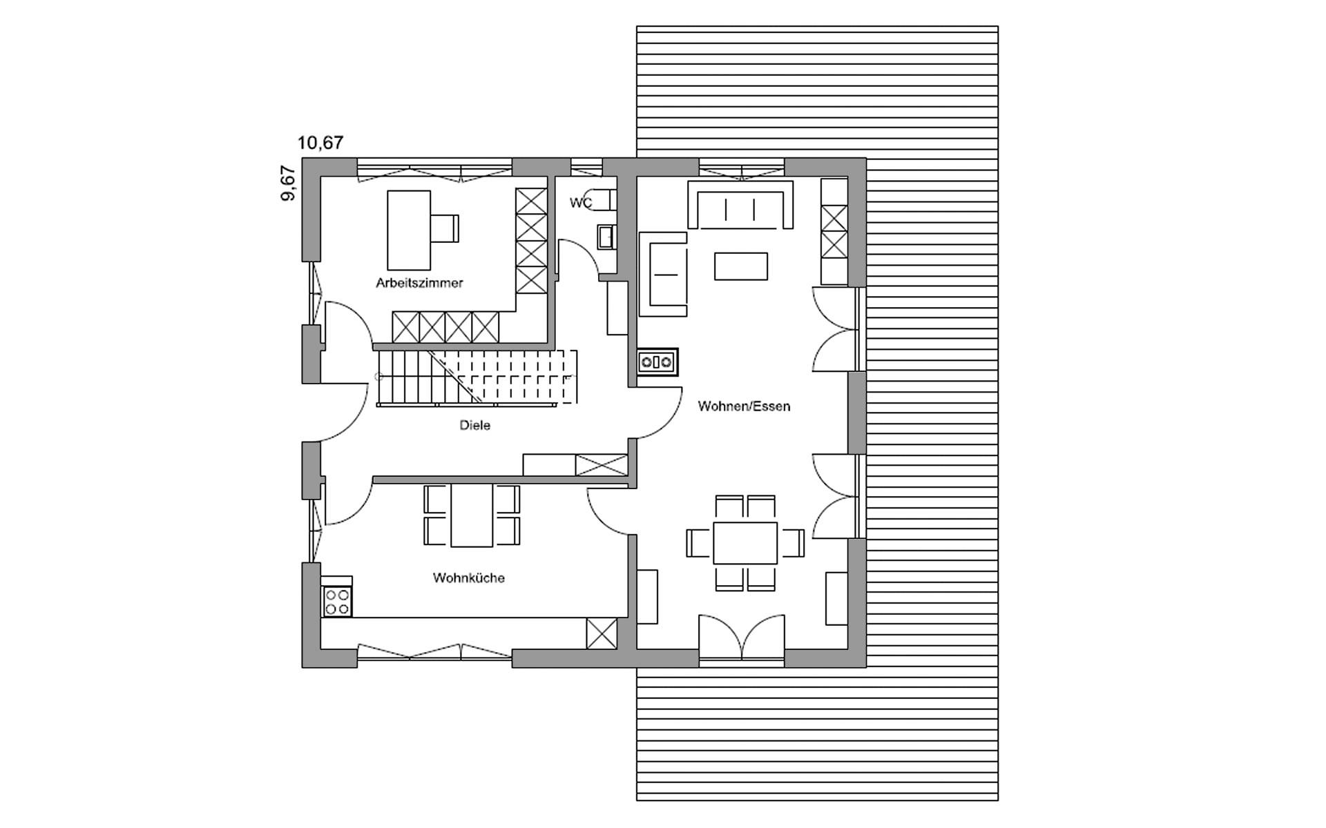 Erdgeschoss Eva von Regnauer Hausbau GmbH & Co. KG
