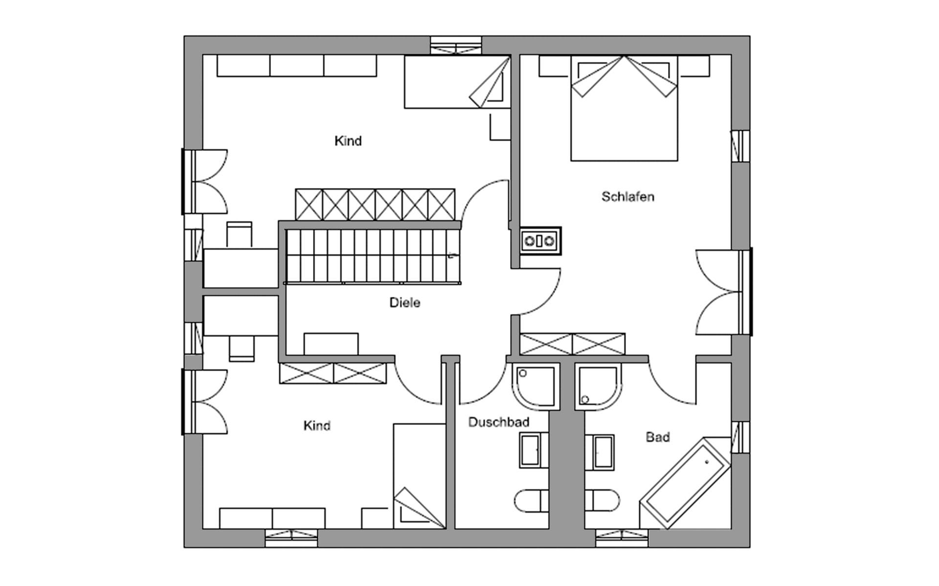Obergeschoss Eva von Regnauer Hausbau GmbH & Co. KG