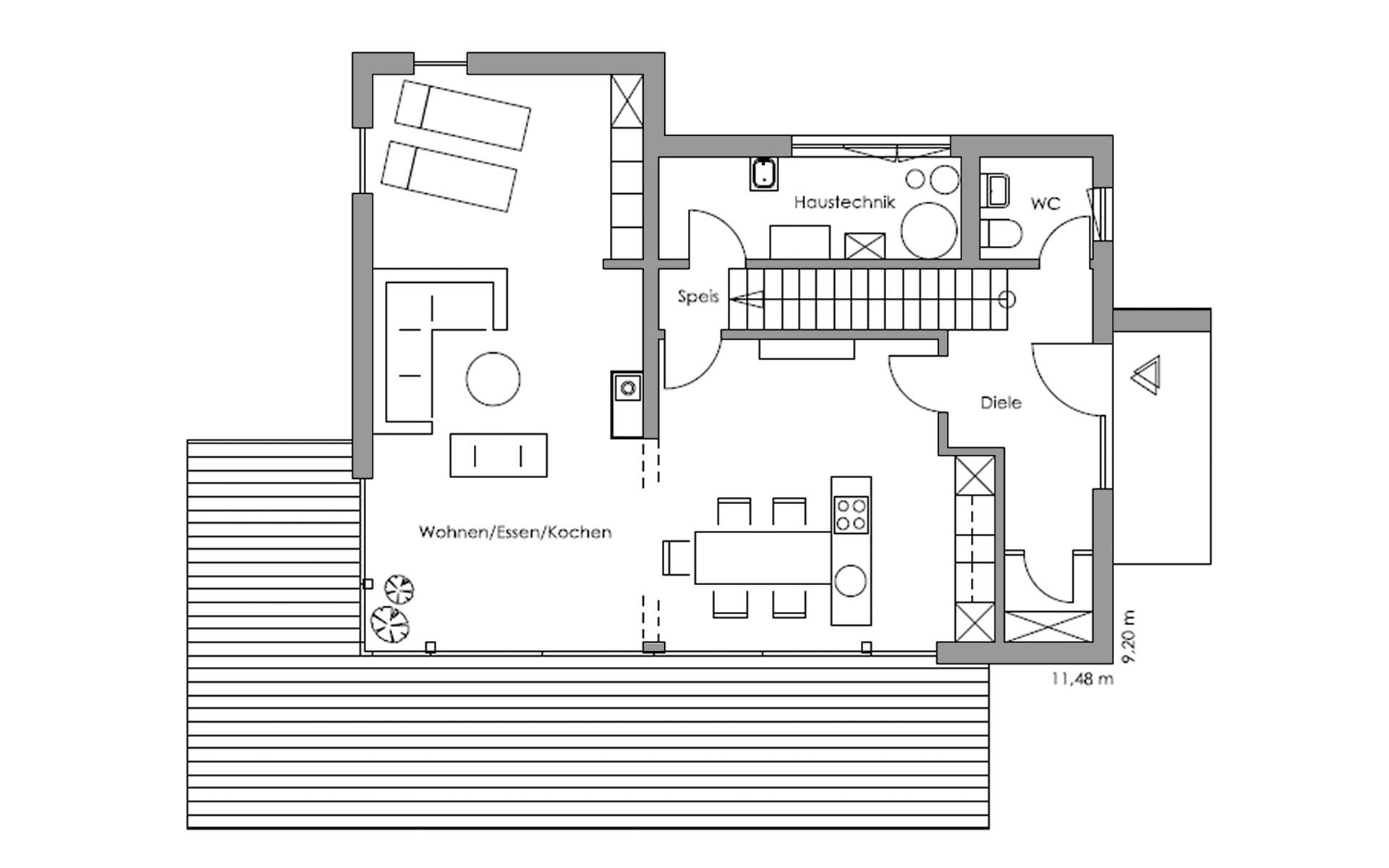 Erdgeschoss Vita-Cube - Fellbach von Regnauer Hausbau GmbH & Co. KG