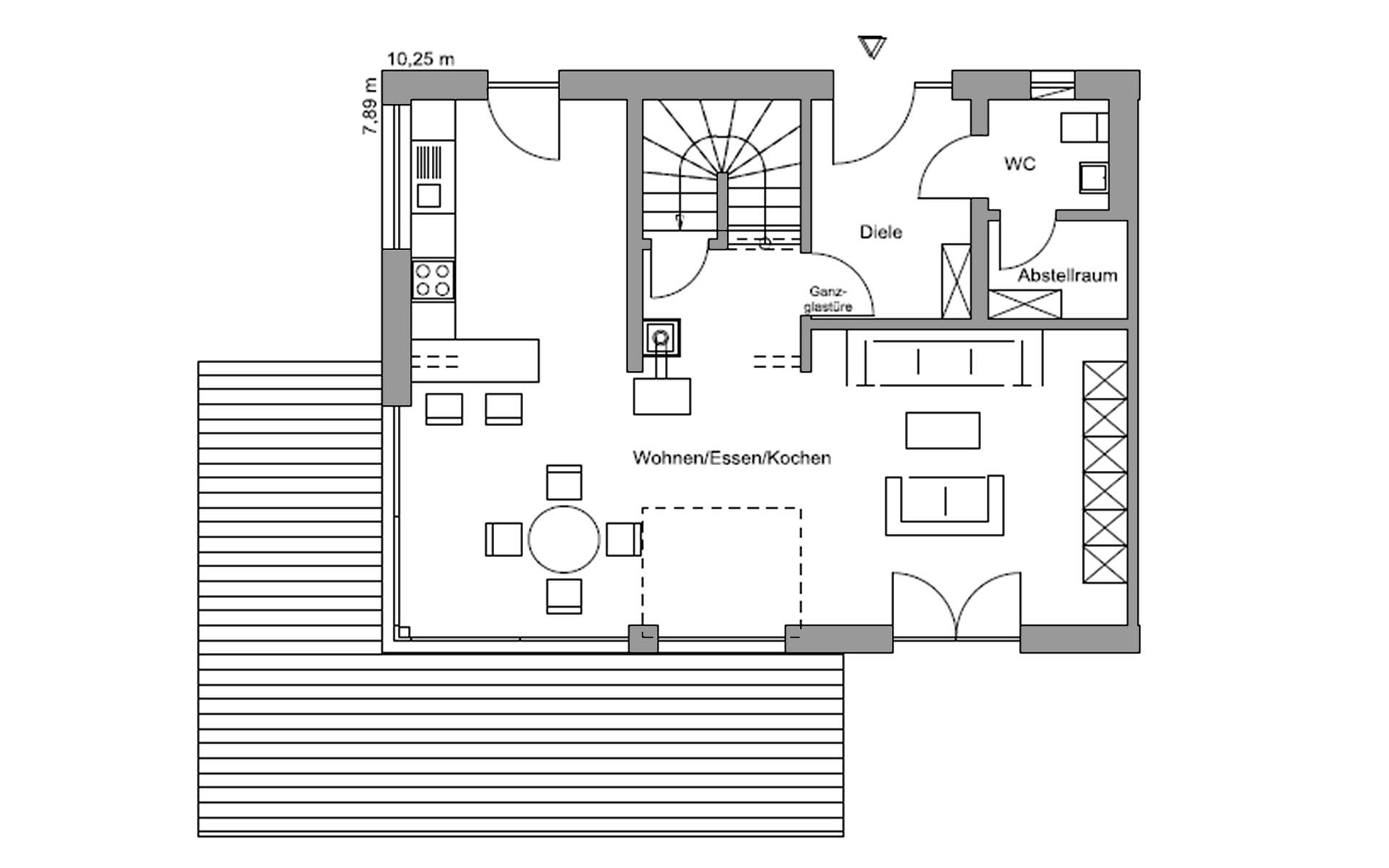 Erdgeschoss Germering von Regnauer Hausbau GmbH & Co. KG