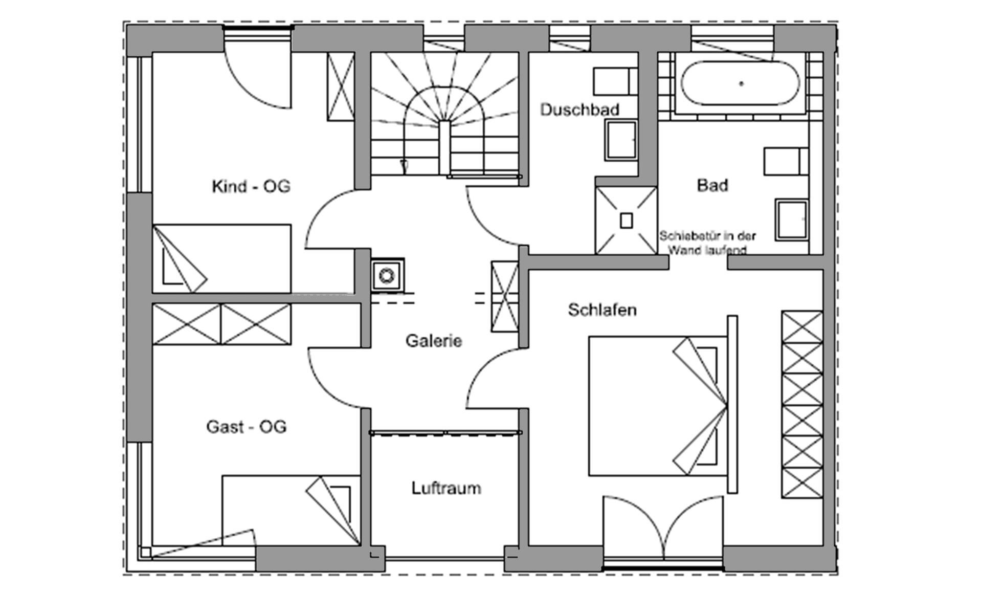 Obergeschoss Germering von Regnauer Hausbau GmbH & Co. KG