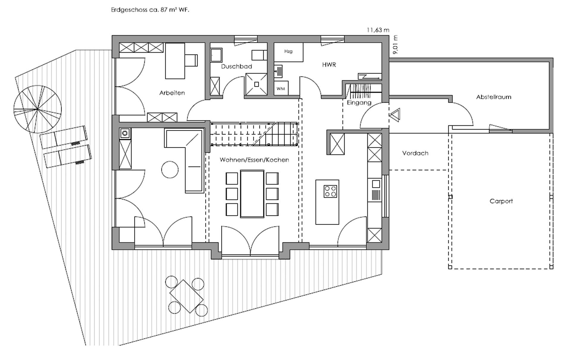 Erdgeschoss Glonn von Regnauer Hausbau GmbH & Co. KG