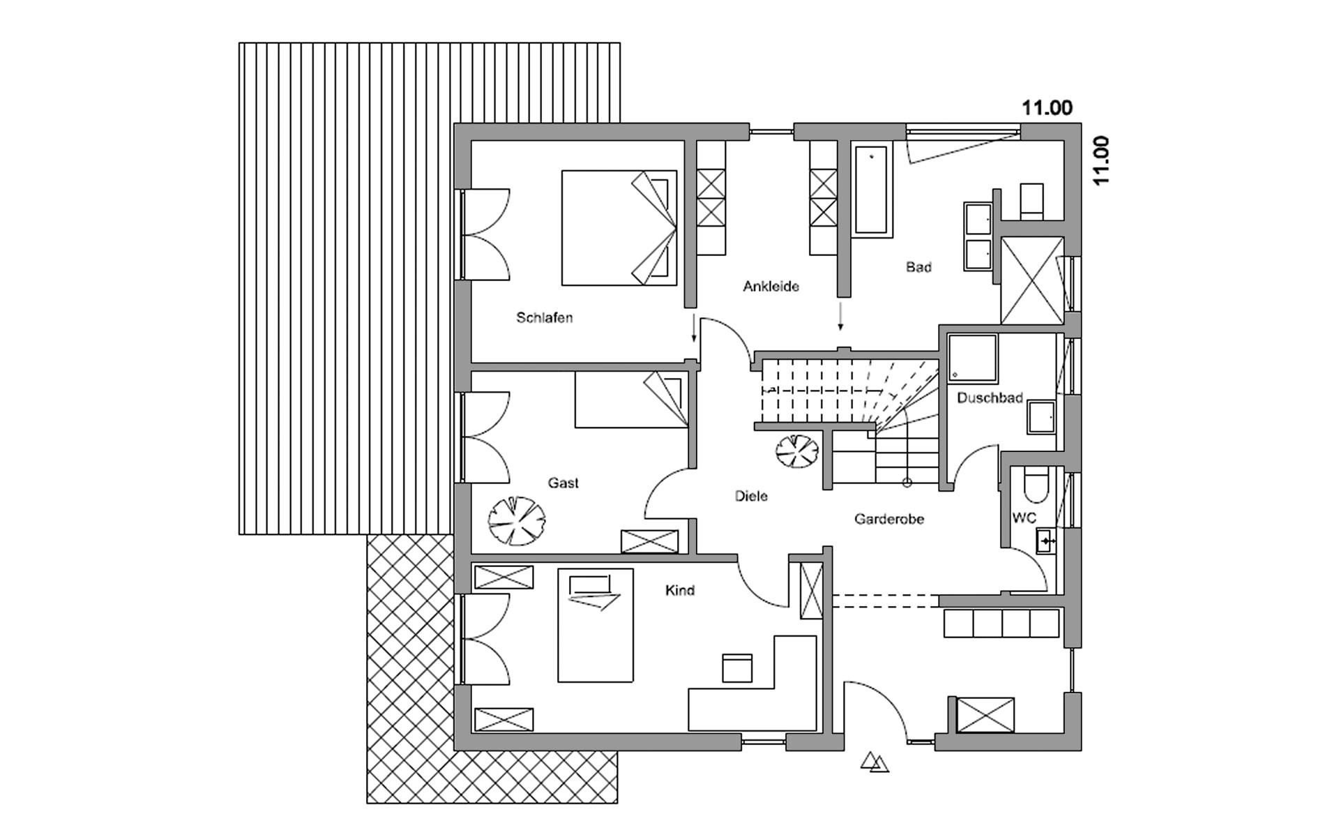 Erdgeschoss Herrsching von Regnauer Hausbau GmbH & Co. KG