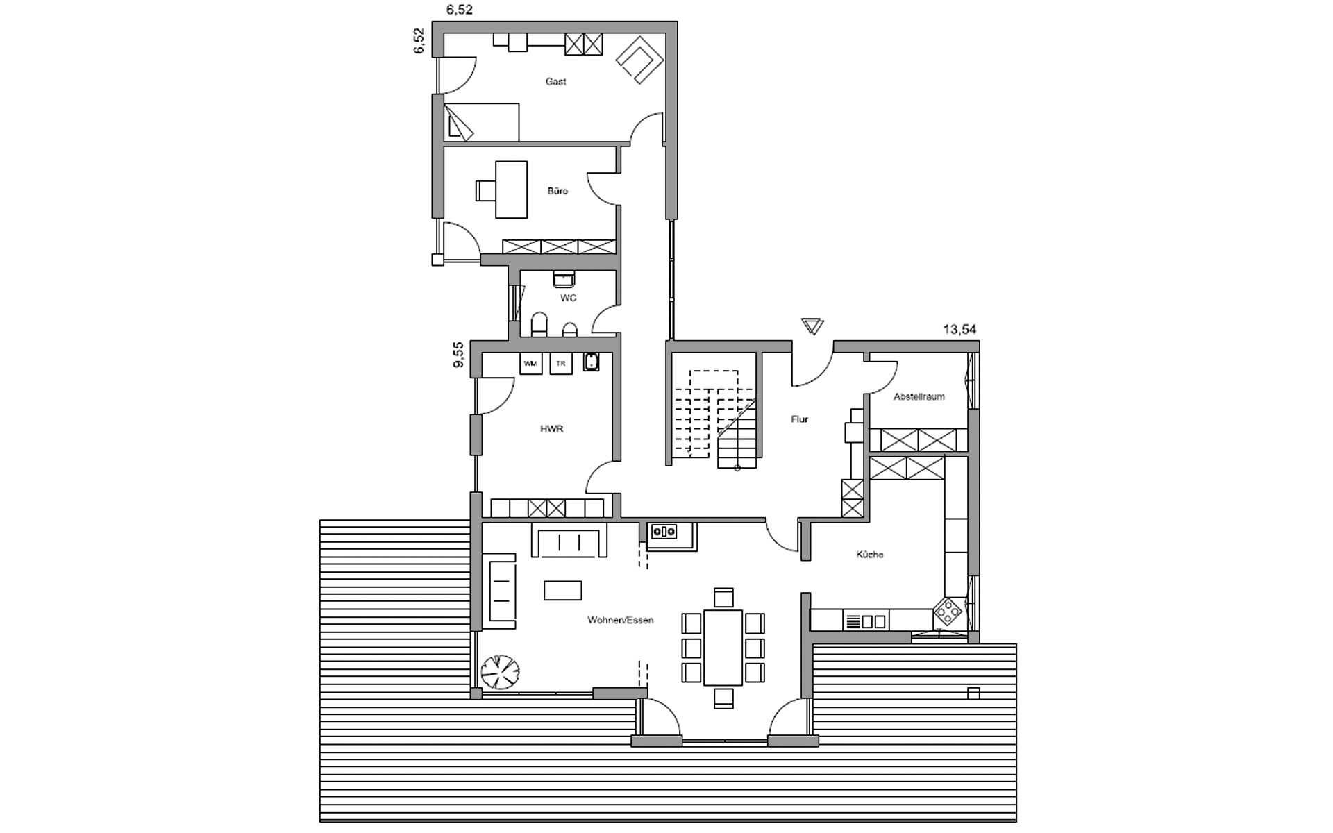 Erdgeschoss Julia von Regnauer Hausbau GmbH & Co. KG